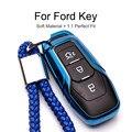 Чехол для автомобильного ключа для Ford Edge Mondeo Mustang  Мягкий защитный чехол из ТПУ для автомобиля  стильный аксессуар  чехол для Ford