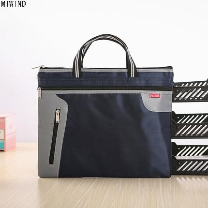 New A4 Canvas Office Briefcases For Men Women Waterproof Lightweight Messenger Bag Men File Storage Bag Handbag Briefcases 1464