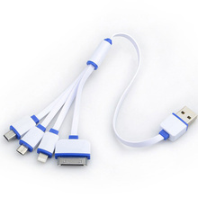 Universal Portable USB 4 in 1 Charge Cable Multi Charger Cable for HTC Samsung Sony Xiaomi Huawei iphone 4 4s 5 5s 6