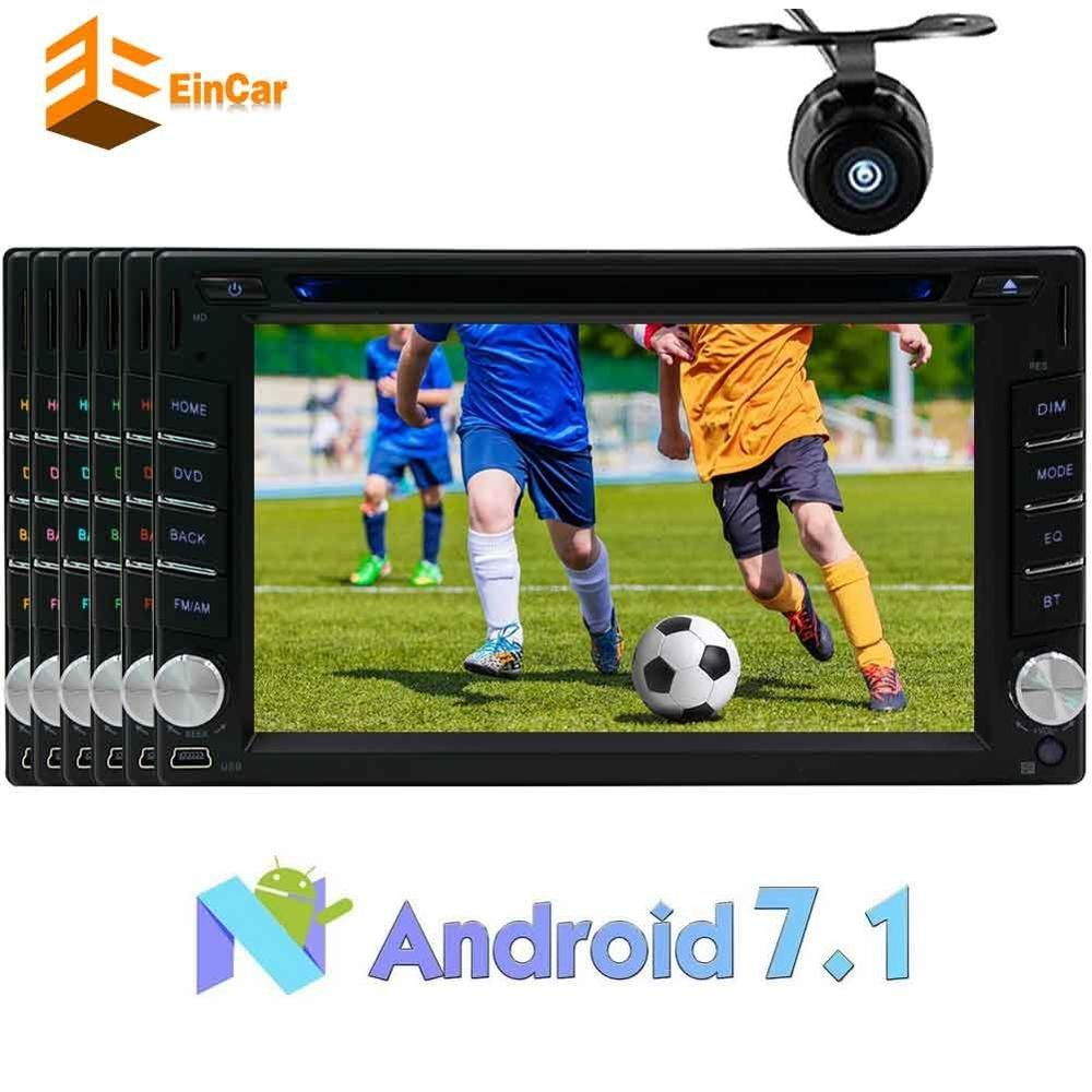 Backup Camera Android 7.1 car audio 2 DIN Touch Screen DVD player on dashboard GPS radio navigation support Bluetooth/OBD2/WiFi