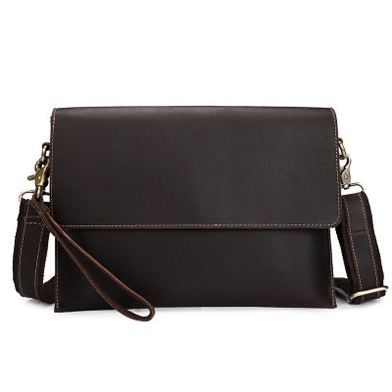 YISHEN Genuine Leather Men Messenger Bags Casual Male Shoulder Crossbody Bag Vintage Travel Male Flap Bag Men Clutch Bag BF1222 футболка tommy hilfiger mw0mw04491 416 navy blazer