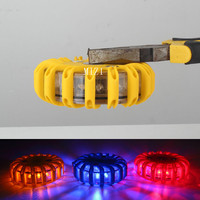 Rechargeable LED With Magnetic Car Emergency Flash Lighting Vehicle Strobe Light Police Warning Lights 3 Colors