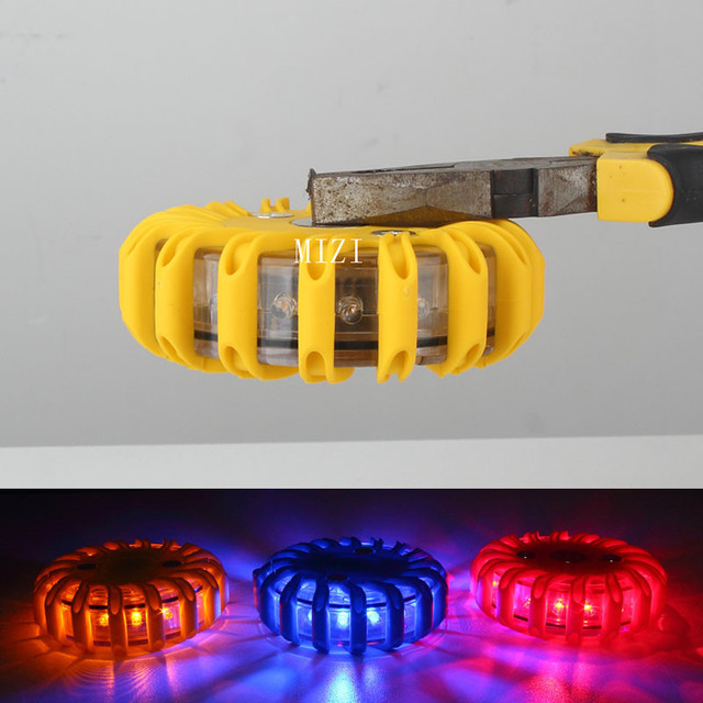 Rechargeable LED Warning Lights With Magnetic Car Light Round Beacon Emergency Strobe Flashing Roof Police Day Light Automobiles