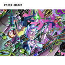 Home Wall Decoration Retro Poster Rick and Morty Adult Swim Adult Swim Cartoons Cartoons Space Animation Planet 55X77 Cm