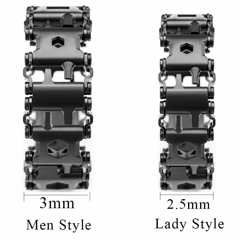 Hommes de Mode EDC En Acier Inoxydable Bracelet En Plein Air Outil Bracelets Bracelets