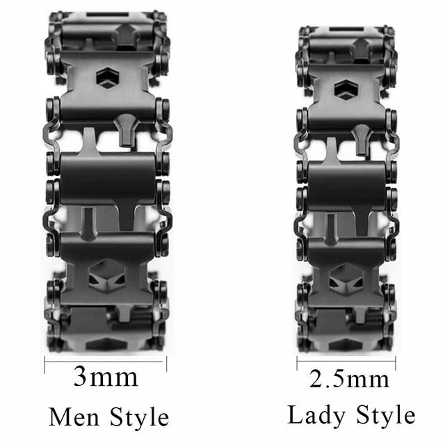 Hottime Wearable Tread 29 In 1 Multifunctional Tool Bracelet Strap Multi-function Screwdriver Outdoor Emergency Kit Multi Tool