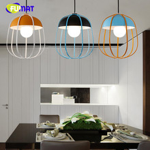 Brief Loft Pendant Lamp Bar Restaurant Creative Metal Pumpkin Suspension Lamp Bright-coloured Living Room Kitchen Office Lamp