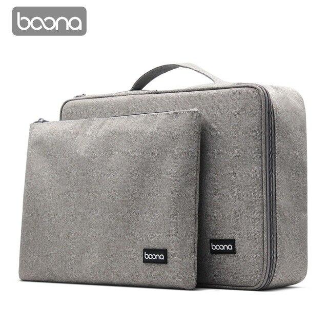 Boona bolsa impermeable para documentos, bolsa de almacenamiento de papeles, bolsa para credenciales, bolsillo para documentos