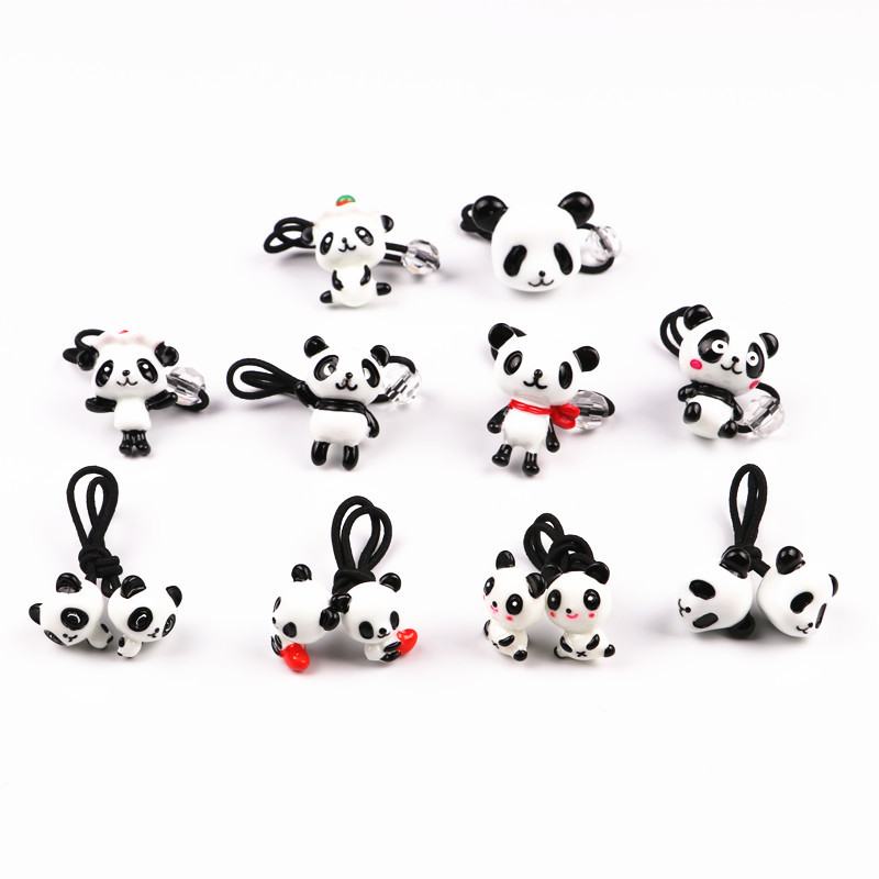GG & MM wholesale children 's jewelry panda three - dimensional hair band hair rope hair ornaments gg