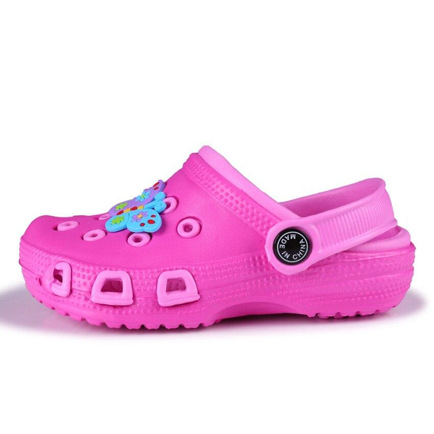 Summer Children Beach Sandals Breathable Waterproof Kids Mules Clog Shoes Cartoon Soft Double Layer Baby Girls Boy Sandals 24-35