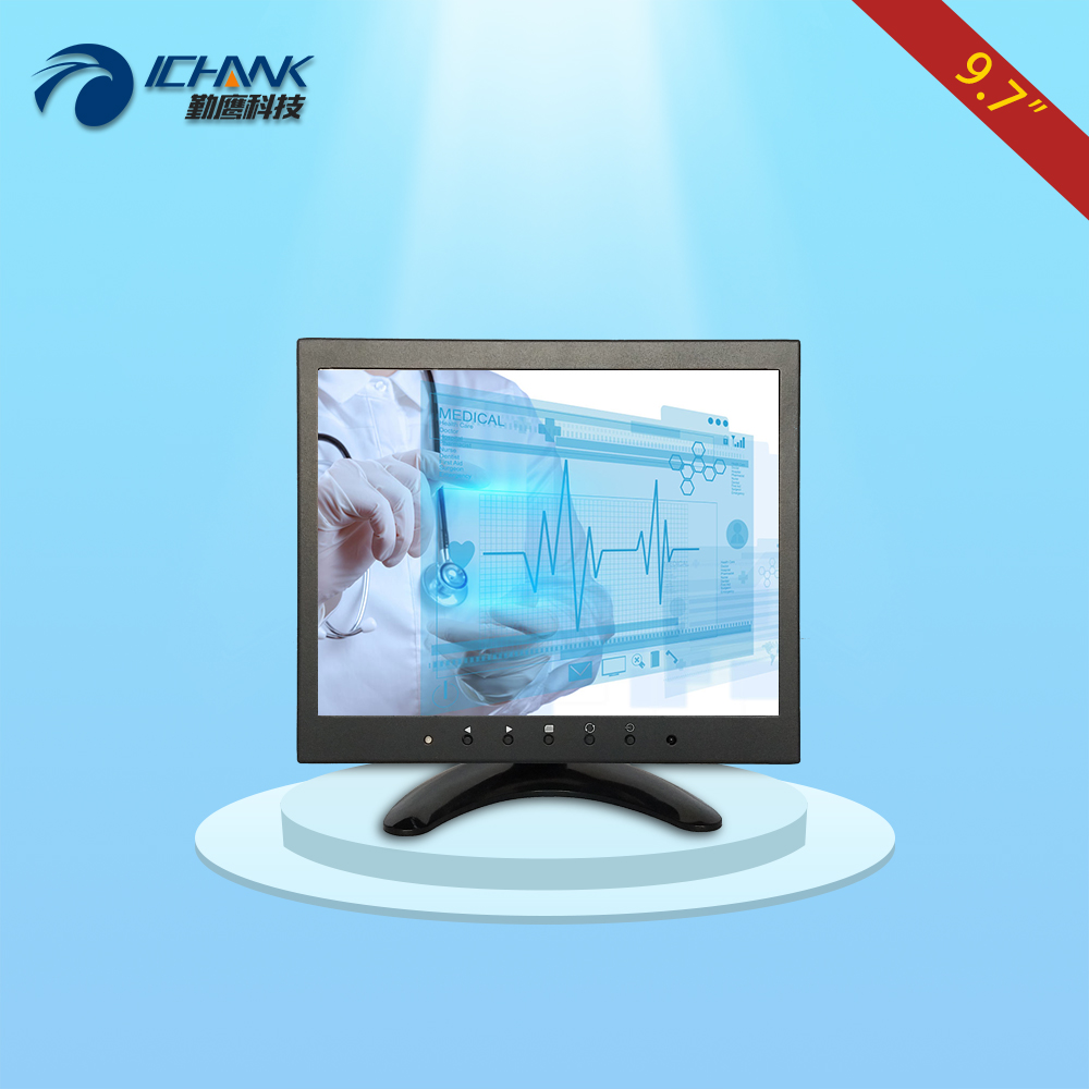 ZB097TC-V592/9.7 inch 1024x768 4:3 IPS fullview 1080p metal case HDMI VGA USB signal industrial touch monitor LCD screen display zk080tn 2660 8 inch 1024x768 metal case vga hdmi signal open embedded frame wall hanging industrial monitor lcd screen display