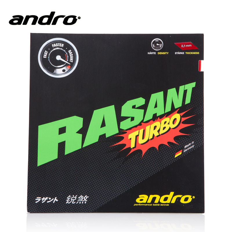 Andro RASANT TURBO Pimples In Table Tennis Rubber Pips-In Ping Pong Sponge Tenis De Mesa накладка andro hexer hd