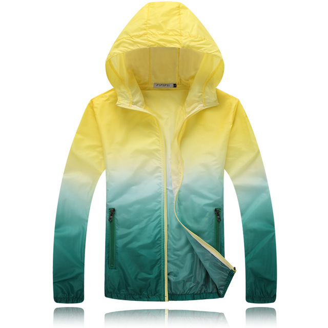 8c7b3012618 Breathable Thin Quick-Drying Basic Hooded Jackets Rain Coat Women Peel Off  Top Base Anti-UV Sunscreen Outwear Female Plus Size