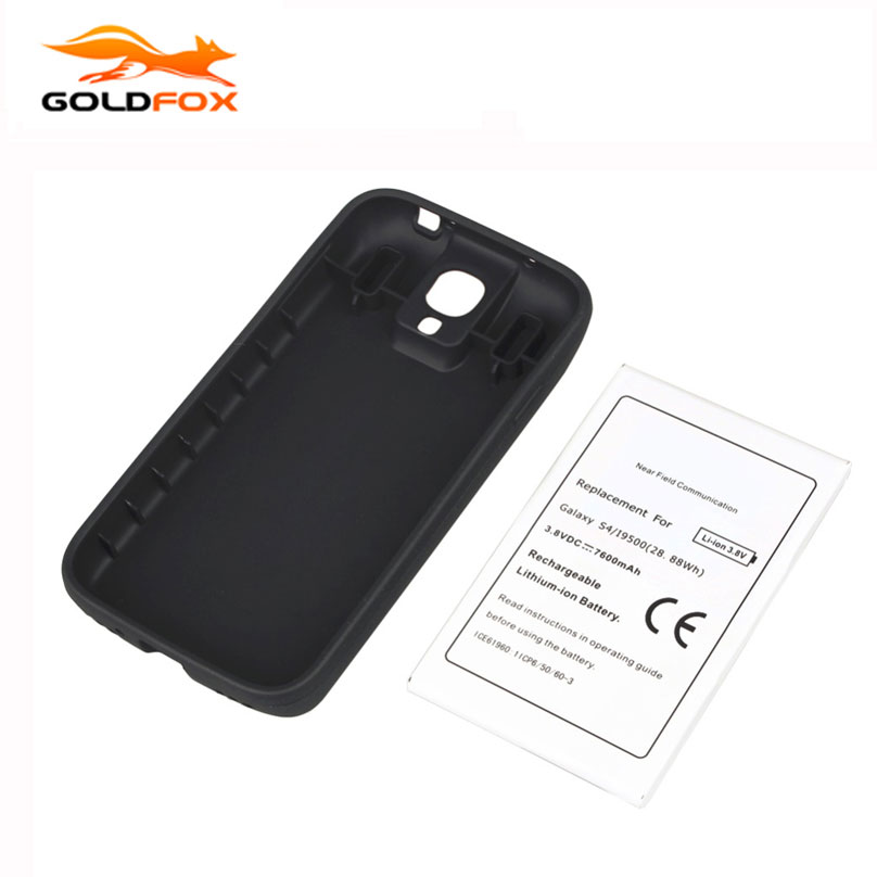Замена NFC 7600 мАч Батарея для Samsung Galaxy <font><b>S4</b></font> i9500 Батарея с крышкой телефон коммерческий продлить Батарея высокое качество