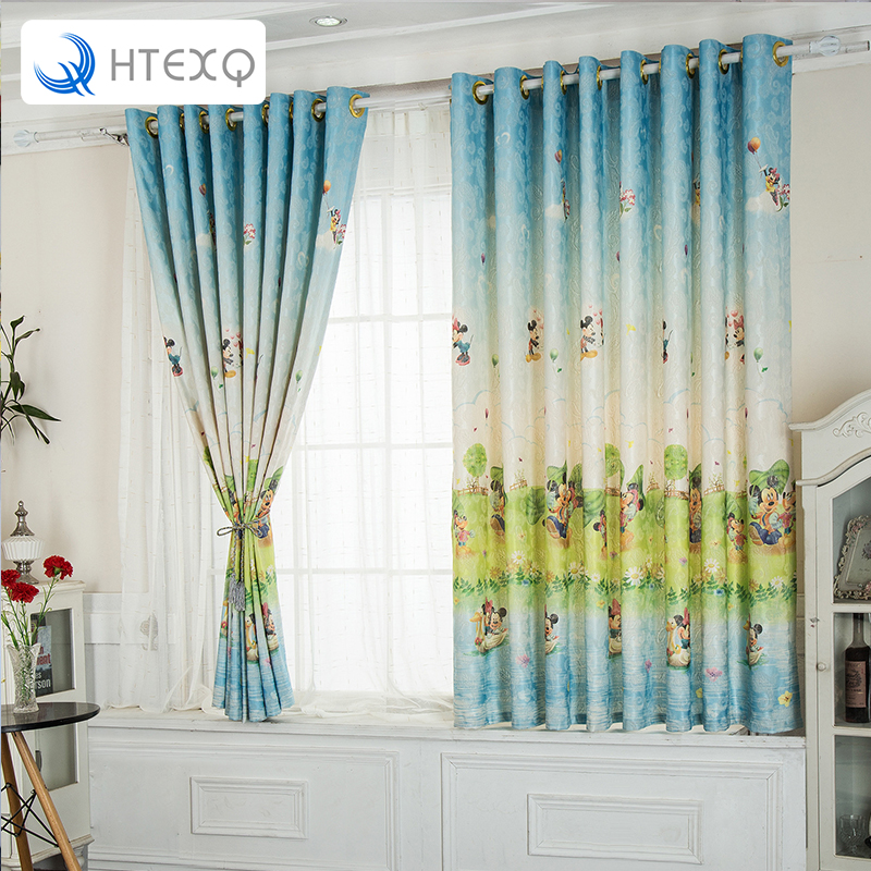 mickey mouse the curtain window shades curtains bedroom finished