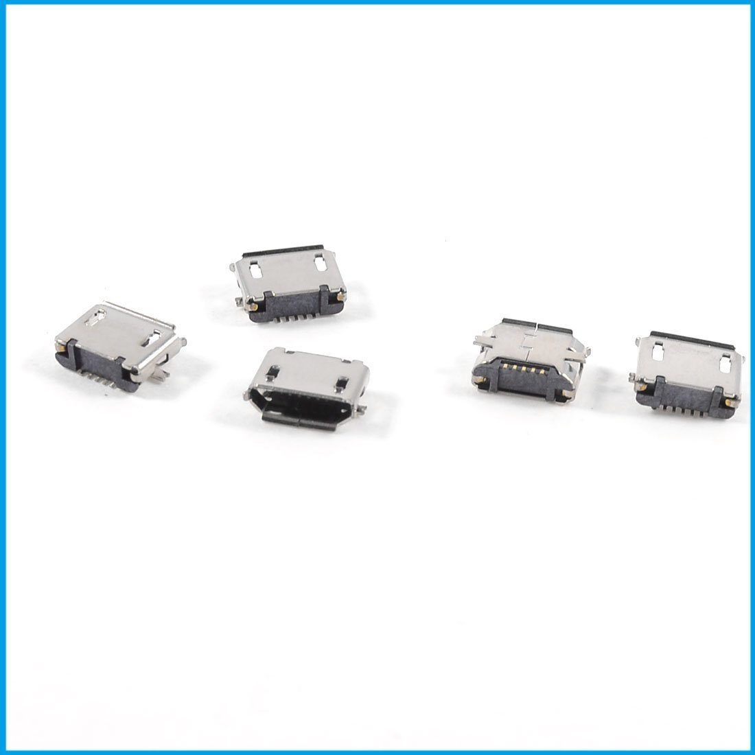5pcs USB Micro Type-B 5pin Female Jack Connector SMT Surface Mount