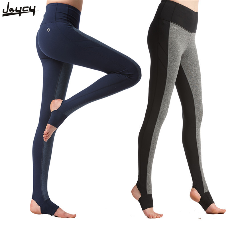 Women Sports Fitness Yoga Pants Gym Stretched High Waist Pants Knitting Fitness Slim Leggings Foot Tights Elastic Trousers 2017 women s yoga pants workout capri leggings running tights side pockets functional pattern patchwork sports leggings jnc2315