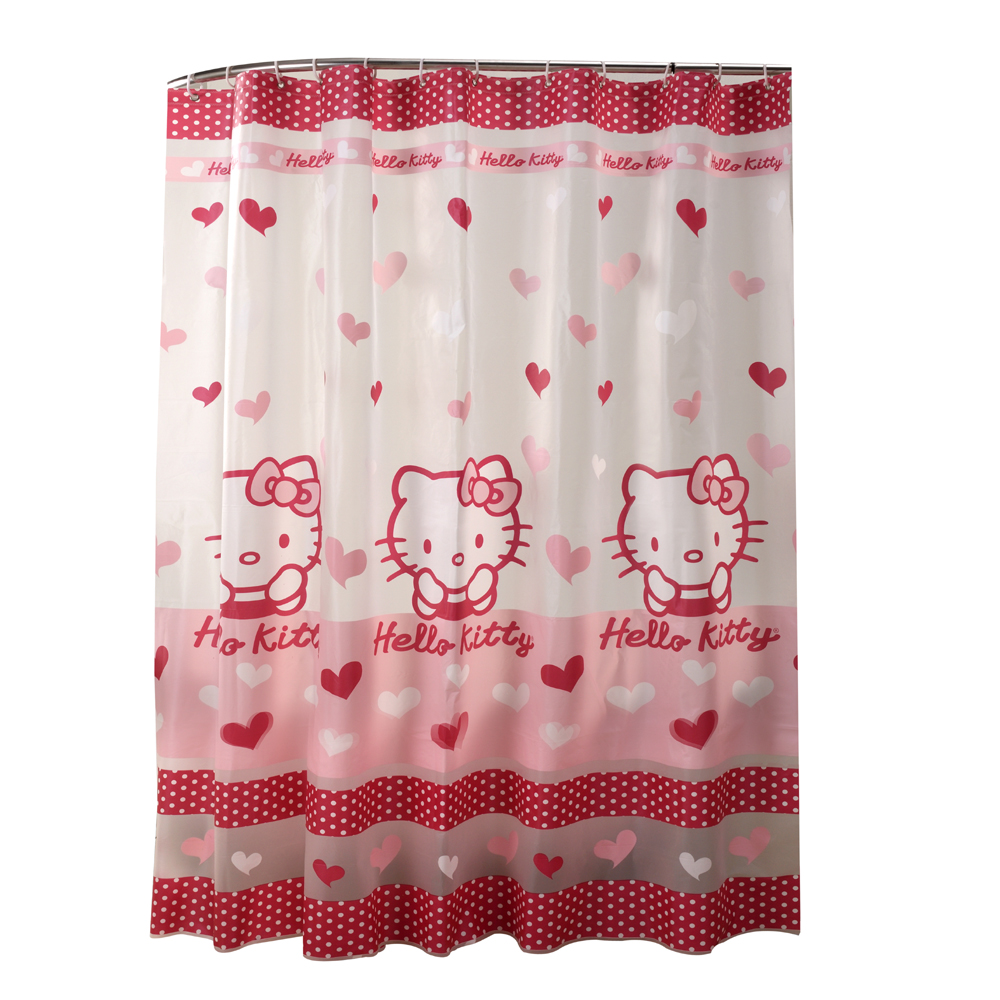 widescreen hello kitty bathroom curtain for towels mobile hd peav semitransparent waterproof pink colour