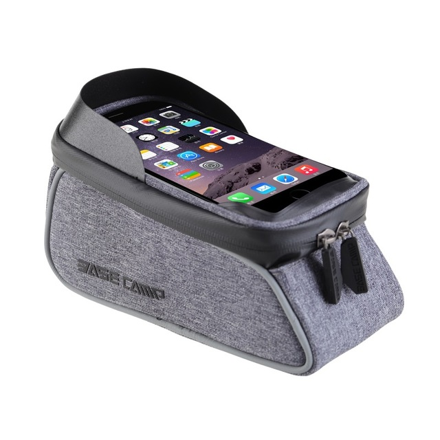 6 Inch Waterproof Touch Screen Bicycle Bags Mountain Road Bike Top Front Tube Frame Bag Cycling Mobile Phone Pouch Case Cheap DH