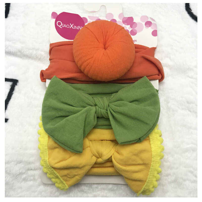 2019 Kids Accessories 3PCS/Set Kids Baby Headband Toddler Lace Bow Flower Hair Band Accessories Solid Tassels Ball Headwear
