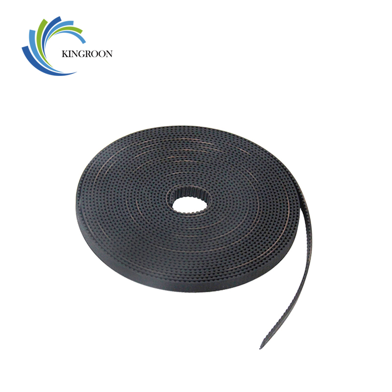 KINGROON 1meter GT2 Open Timing Belt Width 6mm 10mm For 3D Printers Parts Black Rubber 2GT-6mm PU Synchronous Belts Accessories gt2 closed loop timing belt rubber 2gt 6mm 3d printers parts 110 112 122 158 200 280 300 400 610 852 mm synchronous belts part