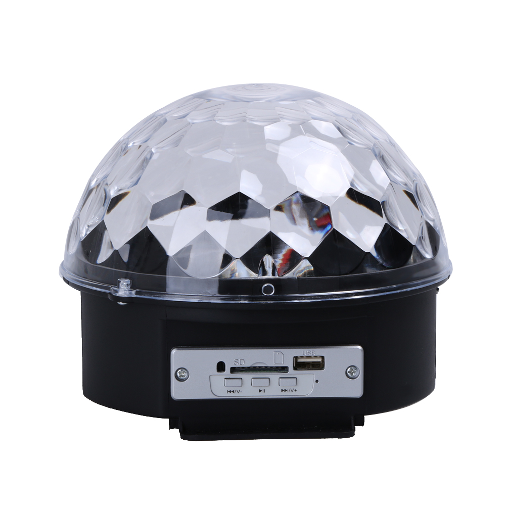 Led RGB Mini Stage Light AC110-240V Magic Crystal Ball Lamp 3W Laser Light Christmas Dance Party Lantern Projector Bluetooth novelty glass magic plasma ball light 3