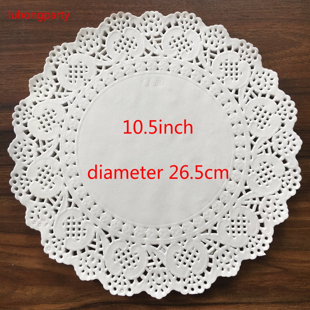 200pcs 10 5 quot diameter 26 5cm Vintage napkin Hollowed Lace Paper mats Crafts DIY Scrapbooking Wedding Decoration pads in Mats amp Pads from Home amp Garden