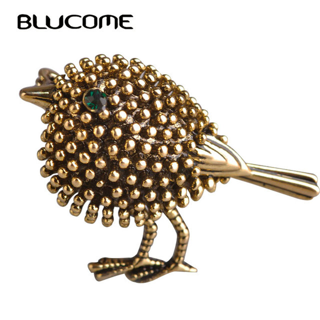 Blucome Vintage Bird Brooches Lovely Little Birds Dress Collar Suit Sweater Banq