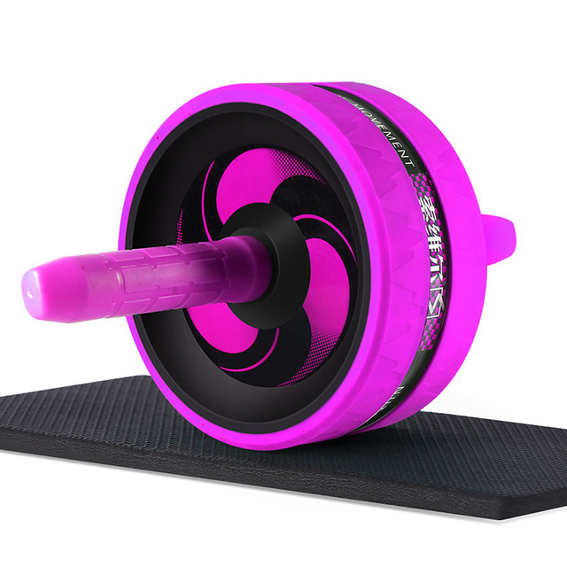 Roller&Jump Rope No Noise Abdominal Wheel Ab Roller with Mat  For Exercise Fitness Equipment Accessories Body Building 3