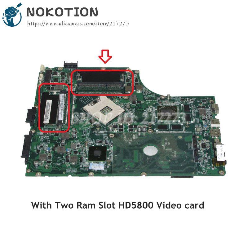 NOKOTION MBPUP06001 MB.BPJ06.001 For Acer aspire 7745 7745g Laptop Motherboard DA0ZYBMB8E0 HM55 DDR3 HD5800 Support i3 i5 only