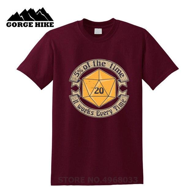 2019 Trend camiseta masculina Dungeons 5 Percenter D20 V2 GOLD Dragons Ball Z Anime divertida impresión hombres camiseta inspirado diseño Top camiseta