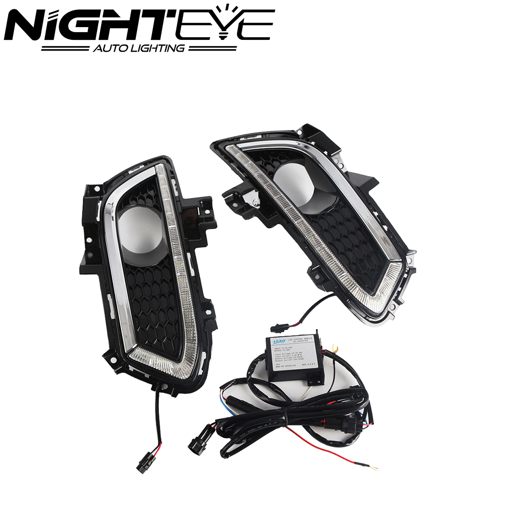 2XDRL LED Driving Daytime Running Light Fog Lamp Fit For Ford Mondeo 2013-2016 Day Light Led Car Free Shipping
