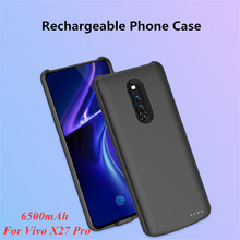 New fashion Portable Power Bank Charging Case for VIVO X27 Pro Battery Charger Cases 6500mAh External Charging Power Cover