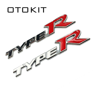 Car Styling 3D Metal Alloy Type R Typer Sticker For Honda City CR-V XR-V HR-V Accord FIT Jazz Stream Crider Greiz CIVIC Spirior(China)