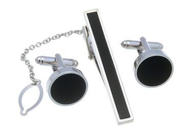 5 zestawów partia czarny okrągły spinki emaliowane + krawat zestaw klipsów srebrny plac czerwony kryształ krawat spinka i spinki do mankietów zestaw biżuteria męska tanie i dobre opinie Moda Tie klipów i spinki do mankietów Y150945 Mężczyźni Miedzi Metal Biuro kariera Wholesale