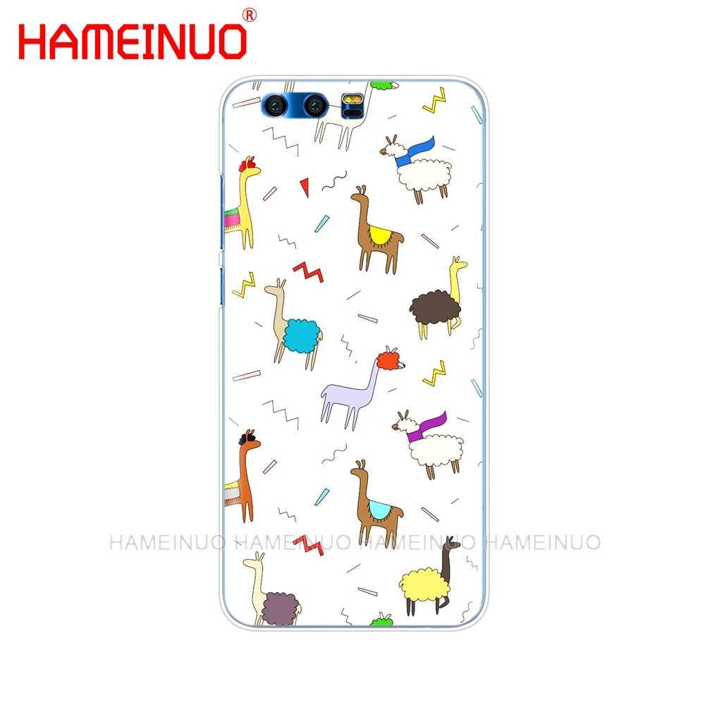 HAMEINUO Милый Мультфильм Альпака бесшовные СПП чехол для телефона для huawei Honor 10 V10 4A 5A 6A 7A 6C 6X7X8 9 LITE