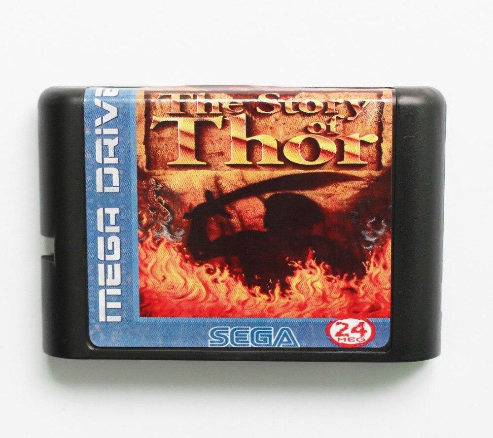 The Story of Thor Game Cartridge Newest 16 bit Game Card For Sega Mega Drive / Genesis System