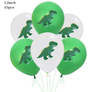 Image 5 - Jungle Party Decoration Dinosaur Balloons Happy Birthday Paper Garland Banner Baby Shower Kids Birthday Dinosaur Party Supply