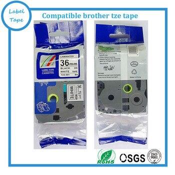 10packs TZe-261 36mm Black on White TZ-261 tze261 tze 261 tz261 compatible label tapes for ptouch label printers