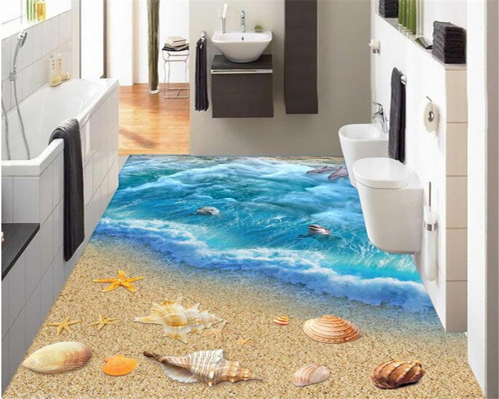 Beibehang 3D Ocean World Blue Sea Dolphin