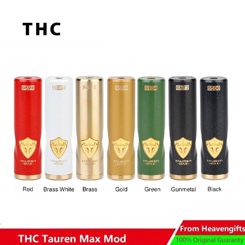 THC Tauren Max Mech MOD 24mm Diameter Waterproof Shockproof Dustproof No 18650 Battery Vape Vaporizer THC