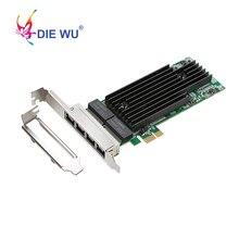 إنتل I82576 4 منافذ جيجابت بطاقة الشبكة PCI Express 1X محول الشبكة بطاقة شحن مجاني