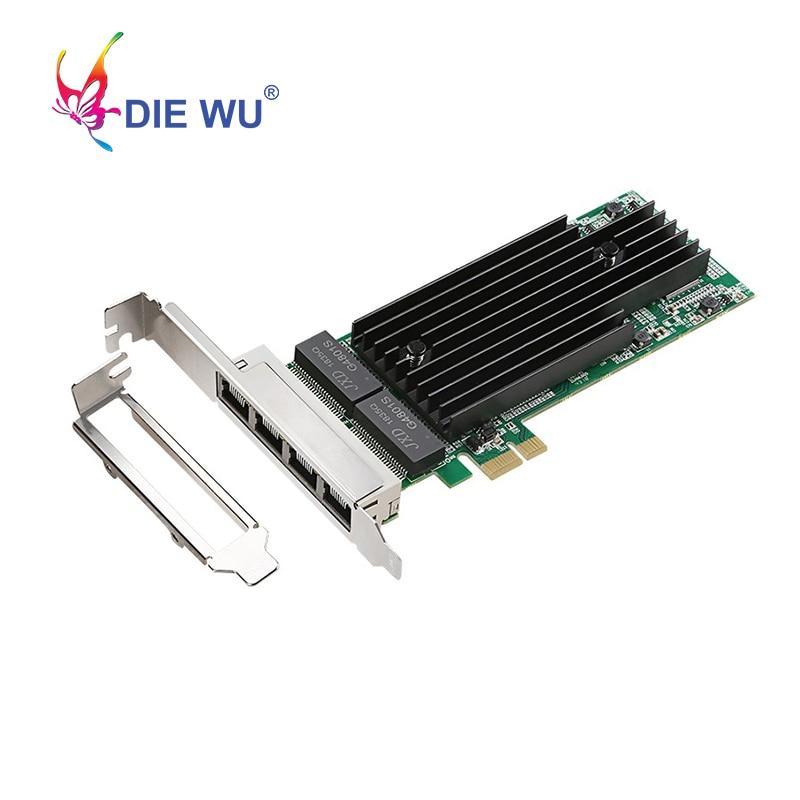 Intel i82576 4 portas gigabit placa de rede pci-express 1x placa adaptador de rede frete grátis