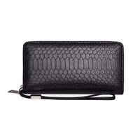 2019 Women Long Clutch Wallet Phone Pocket Snake Simple Soft Leather Wallet New Design Dollar Slim Purse Money Clip Wallet