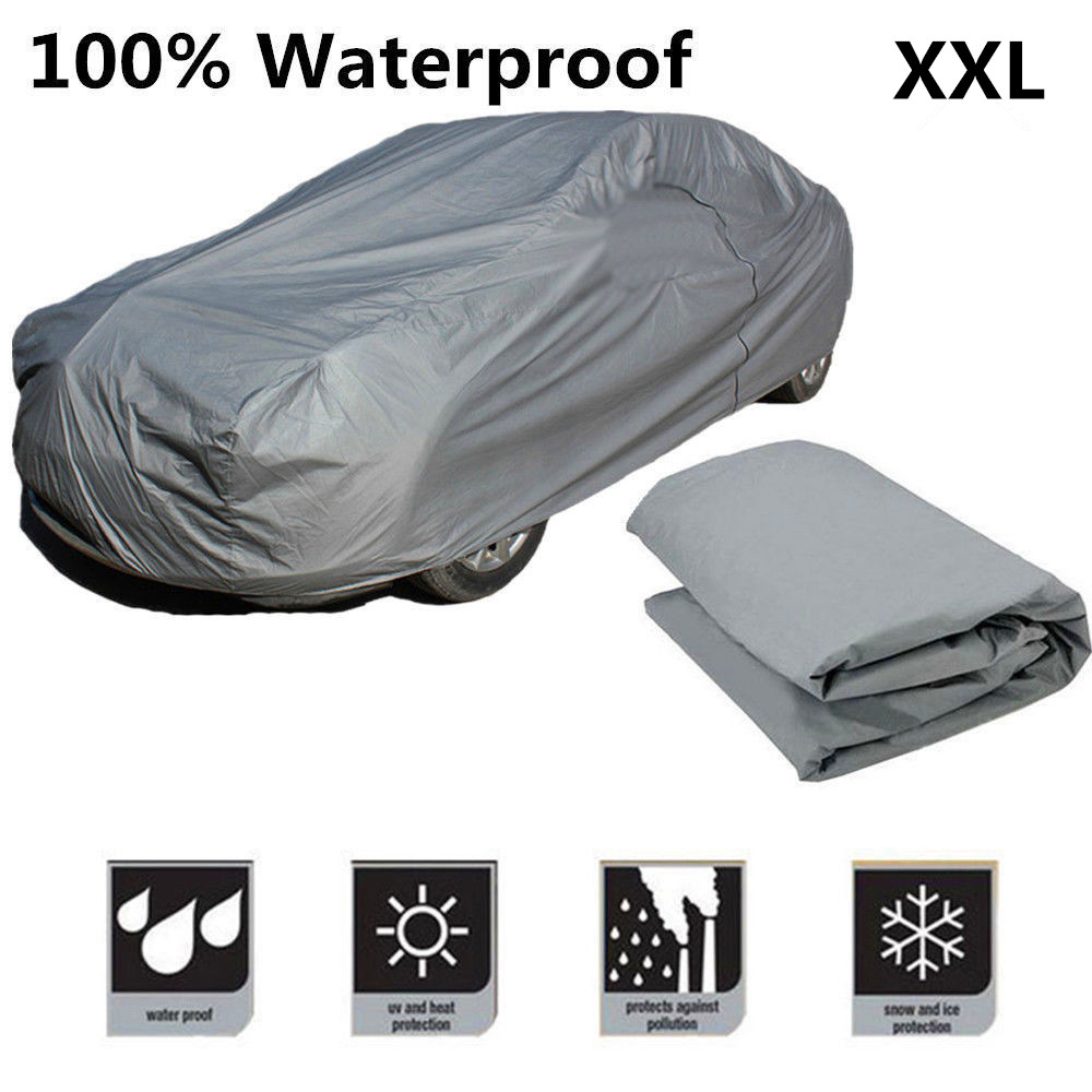 Universal Car Cover Water Dust Snow Sun proof Antiscratch Seamless Cover - Size XXL Car Cover Ourdoor protector 1 pair car horn dust proof cover speaker decorative circle