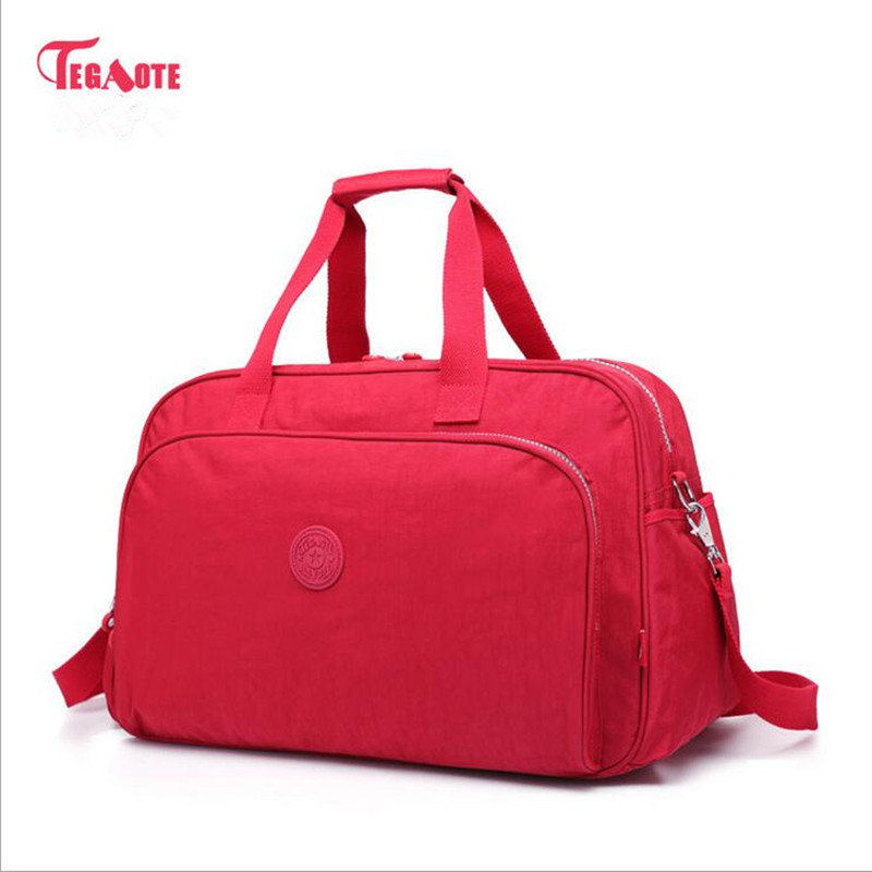 TEGAOTE newest Women Travel Bags Large Capacity Duffle Luggage Big Casual Tote Bag Nylon Waterproof Bolsas Female Handbags tegaote newest women travel bags large capacity duffle luggage big casual tote bag nylon waterproof bolsas female handbags