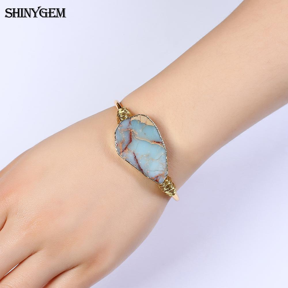 ShinyGem Natural Stone Bangle  1