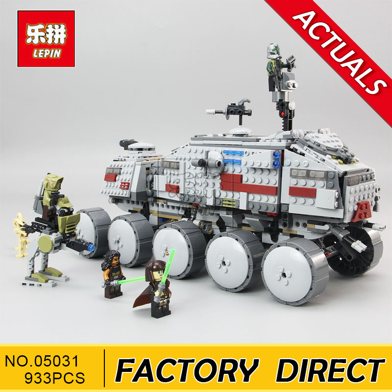 Lepin 933Pcs Star Wars Clone Turbo Tank 75151 Building Blocks Compatible with legoingly STAR WARS Toy 05031 Boys Toys Gift [jkela]499pcs new star wars at dp building blocks toys gift rebels animated tv series compatible with legoingly starwars page 5