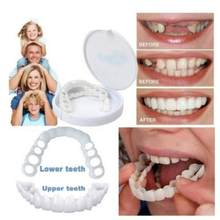 Perfect Fit Teeth Whitening Fake Tooth Cover Snap On Silicone Perfect Smile Veneers Teeth Upper Beauty Tool Cosmetic Teeth(China)