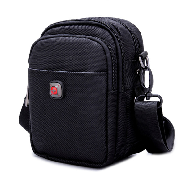 Swiss Army knife men wear shoulder bags, men's mobile phones, Oxford bag, canvas, mini pocket. swiss tech blak pocket knife st45039